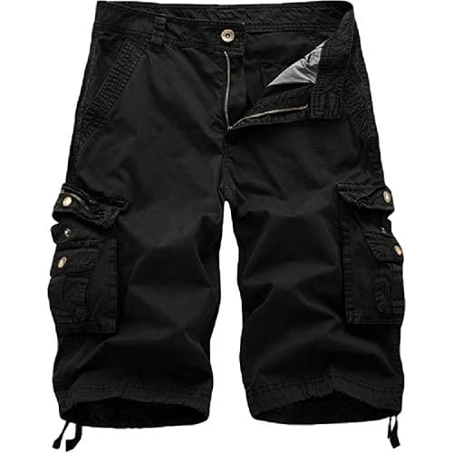 Pantalones de Moda para Hombre Pantalones de chándal de Sudor Pantalones de Trabajo al Aire Libre Pantalones Cargo con múltiples Bolsillos Pantalones Cortos Sueltos con múltiples Bolsillos 40