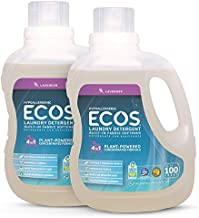 ECOS® 2X Hypoallergenic Liquid Laundry Detergent, Non-Toxic, Lavender, 200 Loads, 100oz Bottle by Earth Friendly Products (Pack of 2)