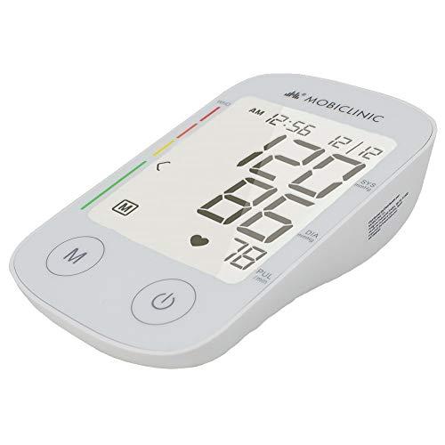 Mobiclinic, Tensiómetro de brazo automático, Monitor de presión Digital, Pantalla LCD, con Manguito, Memoria 4×30 mediciones, TX-01