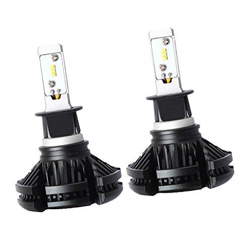 Baoblaze 9V-32V Voiture Phare Ampoule 6500K 50W Phare LED Éclairage 2pcs - H3