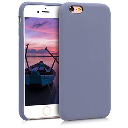 kwmobile TPU Silicone Case for Apple iPhone 6 / 6S - Slim Protective Phone Cover with Soft Finish - Lavender Grey