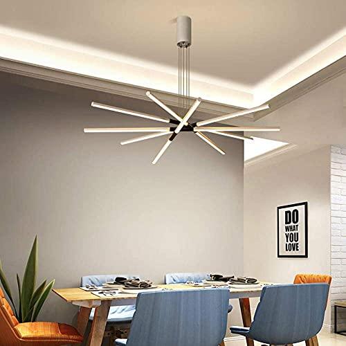 WLABCD Novedad Lámpara de Techo, Blue Time Interior Moderna Lámpara de Araña Led Sala de Estar en el Hogar Comedor Cocina Lustre Lámpara de Techo de Metal Iluminación Luminiares, D80Cm,D100Cm