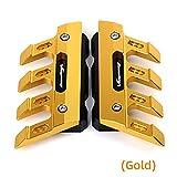Bloque de protección Lateral 1 par for Hon-da xl1000 Varadero ABS XL 1000 V Accesorios de Motocicleta Mudguard Slider Front Fender Fender Xl1000v 1000v Protector de Tenedor Frontal (Color : Gold)