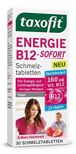 taxofit® Energie B12-SOFORT 30 Schmelztabletten für Energie und Leistungsfähigkeit verringert Müdigkeit