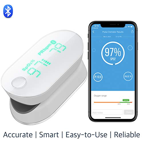 iHealth Air Wireless Fingertip Pulse Oximeter with Plethysmograph and Perfusion...