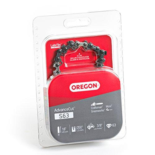 Oregon S63 AdvanceCut 18-Inch Chainsaw Chain, Fits Craftsman, Worx, Greenworks,Grey