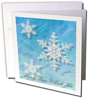 Sung Tan Chuk Ha, Merry Christmas in Korean, Snowflake  - Greeting Cards, 6 x 6 inches, set of 6 (gc_37011_1)