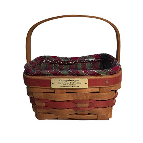 Longaberger 1987 Christmas Collection Mistletoe Basket Combo (Red)