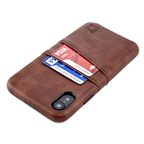 PARA IPHONE XR: la piel sintética Premium de estilo vintage le da un tacto y apariencia elegantes y profesionales. Con solo 14mm de grosor, es una de las fundas cartera más delgadas. 2 ranuras de tarjetas separadas para llevar tus dos tarjetas más im...