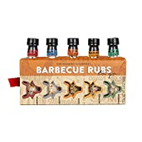 Thoughtfully Gifts, Barbecue Rubs To Go: Grill Edition Gift Set, Includes 5 Unique BBQ Rubs: Cajun, Caribbean, Mexican, Southwest, and Memphis