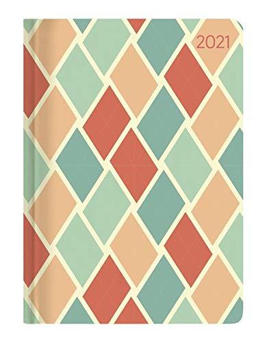 Minitimer Style Retro 2021 - Taschen-Kalender A6 - Weekly - 192 Seiten - Notiz-Buch - mit Info- und Adressteil - Alpha Edition