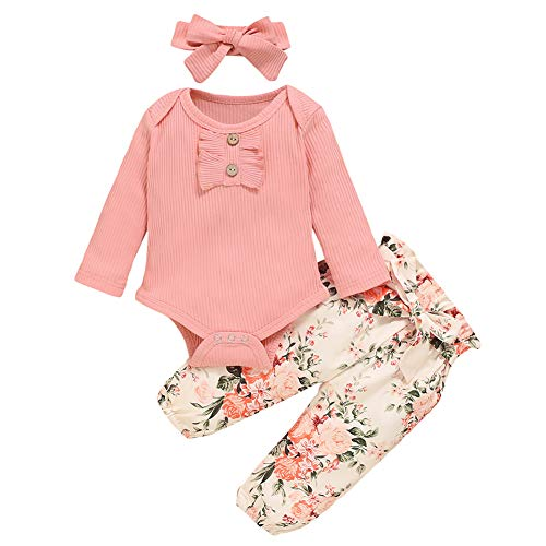 Hotaden New Born Baby Girls Winter Clothes 6 9 Month Spring Photography Outfits for Girl Pink