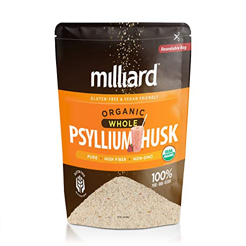 Milliard Organic Whole Psyllium Husk (24 Ounce / 1.5lb) Non-GMO and Gluten Free Fiber Support
