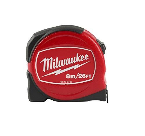 Milwaukee 48227726 Slimline Måttband 8 m/26 fot (bredd 25 mm)