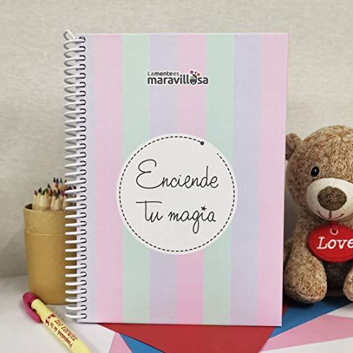 La Mente es Maravillosa - Cuaderno A5 (Enciende tu magia) Regalo para amiga con dibujos (Diseño Magia)