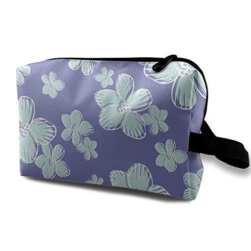 Customized Green Flowers3 Ladies'skin Care Kosmetiktasche Tragbare Kosmetiktasche wasserdichte Reisetasche, Handtasche Reißverschlusstasche
