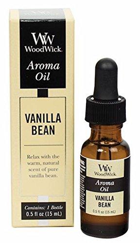 WoodWick Aroma Fragrance Oils for Ultrasonic Diffusers, Vanilla Bean