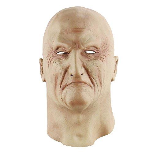 Blaward Lattice Testa Maschera Orrore/ novità Halloween Costume Maschera Horror Maschera Teschio Alieno Macellaio Vecchio Uomo per Cosplay Feste Halloween