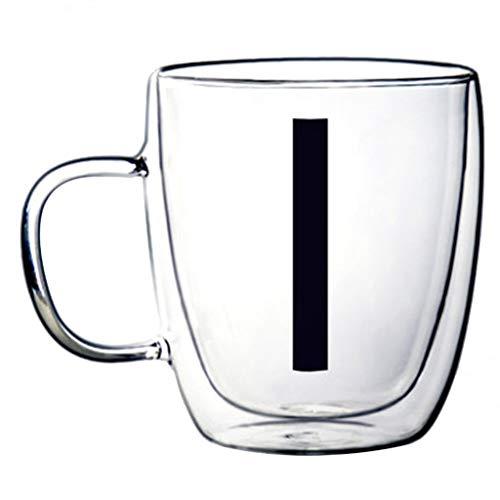 Verres Tasse À Café Double Verre Résistant À La Chaleur Tasse Créative (Color : I, Size : 9.4 * 11.9cm)