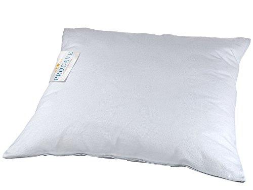 PROCAVE Feinflanell - Schutzbezug für Kissen in der Größe 100 x 100 cm Kissenbezug aus 100% Baumwolle mit Reißverschluss - Made in Germany - schützt Das Kissen vor Verunreinigung