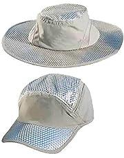 Sombrero áRtico Protección UV Protección Solar Aire Acondicionado Refrigerante Sombrero Para El Sol Malla Transpirable Y Correa Ajustable Para La Barbilla Adecuada Para Senderismo Gorra de béisbol