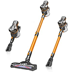 DN DENNOV Cordless Vacuum Cleaners, 13000Pa 4 in1 Lightweight Handheld Vacuum Cordless, Rechargeable Bagless Vacuum Cleaner Cordless Stick Vacuum Cleaner, Lightweight & Large Bin Capacity
