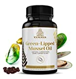 Green-Lipped Mussel Oil, Most Powerful Omega-3, Made in New Zealand, UAF1000+, Joint Pain Relief, Inflammation Supplement, Heart and Immune Support, No Fishy Aftertaste, 450mg, 1 Pack, 60 Count