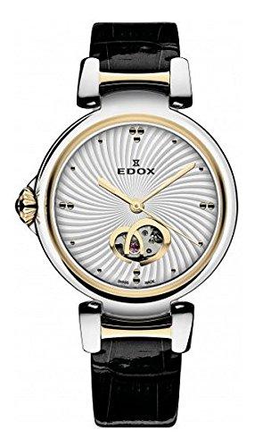 Edox 85025 357RC Air LaPassion Reloj analógico Suizo automático Negro para Mujer