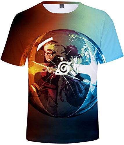 FLYCHEN Niños Camiseta con Motivo Naruto 3D Impreso Gráfica Fantástica Boy's T-Shirt...