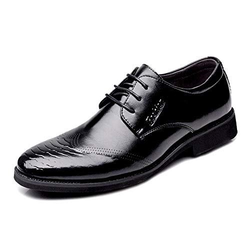Best-choise Ocio Negocios Oxford for el vestido de Trabajo de los hombres atan for arriba microfibra de cuero de imitación de serpiente textura de la piel del dedo del pie en punta del extremo del ala