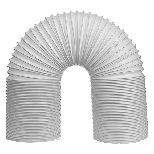 Quata Tubo del Condizionatore d'Aria Tubo di Aspirazione/Scarico Condotto Flessibile Tubo di Sfiato AC in Senso Antiorario Tubo Flessibile 'Aria (5 INCH-2M)