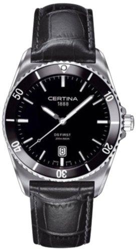 Certina Herren-Armbanduhr XL Analog Quarz Leder C014.410.16.051.00