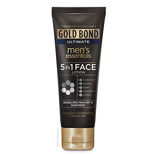 Gold Bond Ultimate Men's Essentials 5-in-1 Face Lotion, 4 Ounce