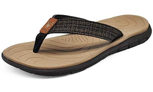 KuaiLu Chanclas Mujer Verano Playa Piscina Comodas Piel Sandalias Planas Caminar Ortopedicas Zapatos ⭐