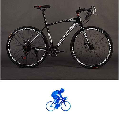 YTNP Adults Trek Bycicles,Mens Variable Speed Mountain Bike,Public Bike Double Disc Brake (21 Speed) Anti-Slip Bicycles,Full Suspension Bike