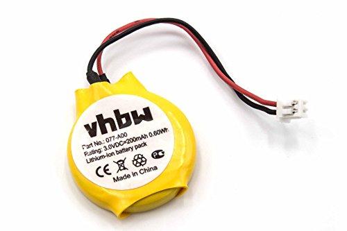 vhbw Li-Ion Bios Batterie 200mAh (3V) Notebook Laptop Dell Latitude E4300, E4310, E6320, E6420, E6430 wie 077-A00, 0MR652, 313-020, GC02001DR0.