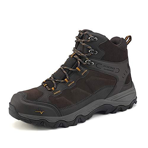 NORTIV 8 Men's Waterproof Hiking Boots Outdoor Mid Trekking...