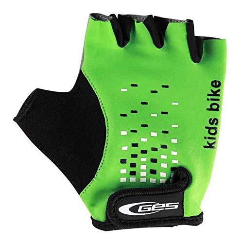 Ges Guante corto para bicicleta, Infantil Unisex, Verde, Talla 6