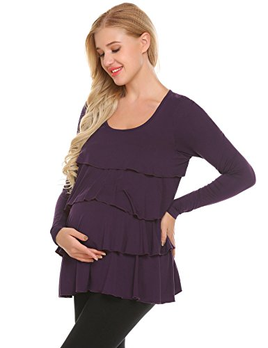 Product Image of the SoTeer Women's Maternity Nursing Tank Tops with Lift Ruffle for Breastfeeding