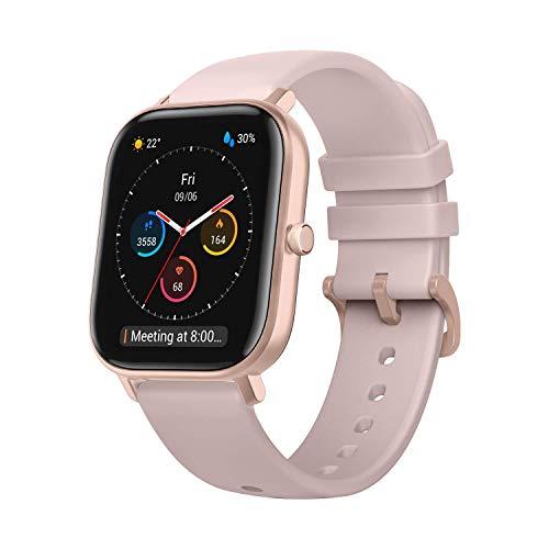 Amazfit GTS Reloj Smartwactch Deportivo | 14 días Batería | GPS+Glonass | Sensor Seguimiento Biológico BioTracker™ PPG | Frecuencia Cardíaca | Natación | Bluetooth 5.0 (iOS & Android) Pink - Rosa
