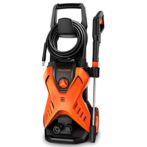 PAXCESS Electric Power Washer 2800 PSI 1.76 GPM X-P3.1 Pressure Washer with 26ft Hose, Adjustable Nozzle, Build-in Detergent Tank, Metal Connector for Cleaning Car/Driveway/Patio Furniture