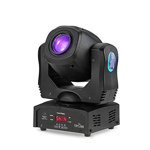Tomshine 80W DMX512 Led Moving Head,Disco Scheinwerfer, Lichtseffekt Strahler 9/11 Kanäle mit 4 Steuerungsmodi,8 Farben,8 Mustern für Disco KTV Club Party