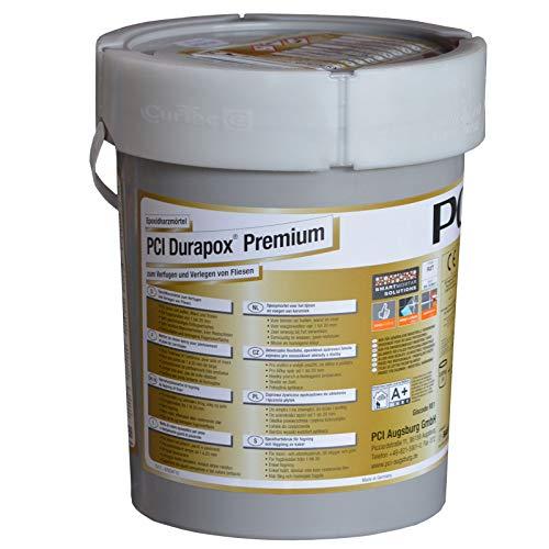 PCI Durapox Premium Reaktionsharz-Mörtel 5kg Eimer, Silbergrau