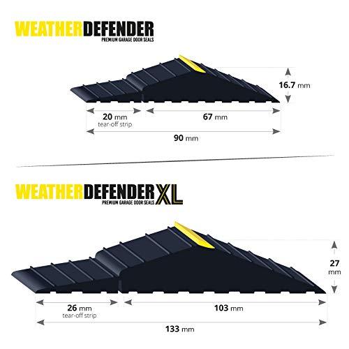 2.9m XL Guarnizione per porta da garage Premium Weather Defender