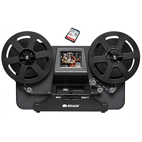 Super 8 - Normal 8 Film Scanner der Marke BRAUN der Reflecta GmbH, inkl. 32 GB SD Karte & Erklärungsvideo