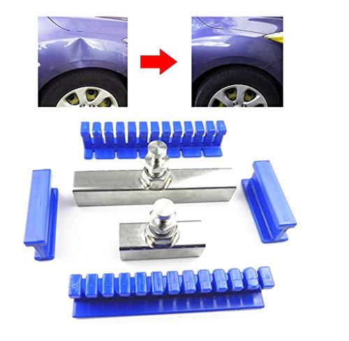 Kit di strumenti per la rimozione di ammaccature per auto, senza vernice, in nylon, per rimuovere ammaccature e rimuovere ammaccature, 6 pezzi di colla blu adesiva, strumenti per la rimozione di