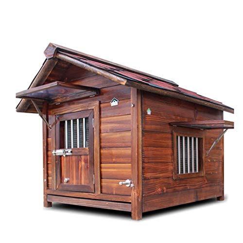 Kennel Solid Wood Outdoor Waterproof Insulation Dog House Washable Four Seasons
