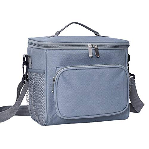 A/N 1 bolsa de hielo portátil gruesa, bolsa de almuerzo de tela Oxford, bolsa aislante, bolsa para el almuerzo, bolsa para el pan, bolsa aislante para botellas de leche, color cian, 26 x 18 x 22,5 cm