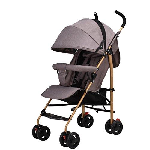 LICHUAN Sistema de viaje carrito de bebé ligero cochecito compacto cochecito plegable adecuado para el cochecito de bebé de avión (color : B)