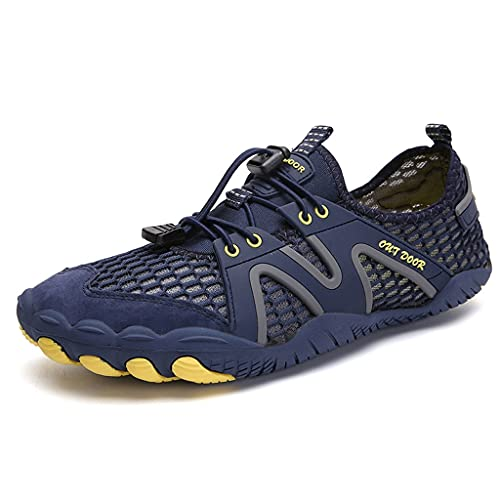 YQQMC Zapatillas de agua unisex descalzos para correr, gimnasio, fitness, hombres y mujeres, transpirables, (color: azul, tamaño: 41EU)